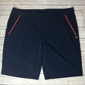 Under Armour Golf Shorts Size 40 Navy Orange M1